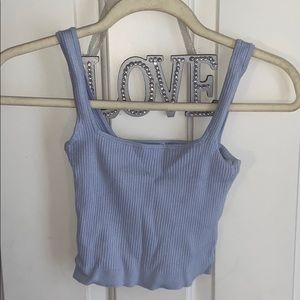 Tops - light blue cropped tank